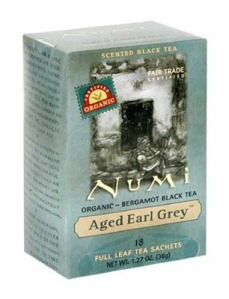Numi Aged Earl Grey Tea (organic and fair-trade).