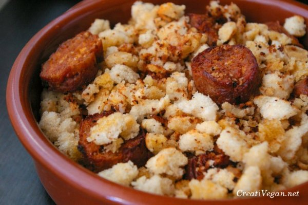"""Crumbs with Vegan Chorizo"" by VeganWarrior on Flickr (CC-A licensed)"