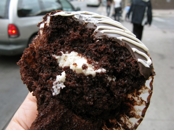 Sweets from the Earth cream-filled cupcake (from Panacea Toronto)