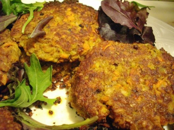 Kreeli's Nutty Oat and Veggie Patties